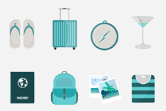 12 fresh vector travel icons