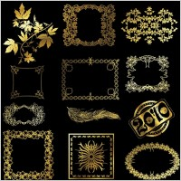 Link to12 golden lace pattern vector