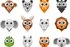 Link to12 landmark cartoon animals vector