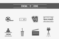 Link to12 movie element icon vector