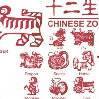 Link to12 new paper cutting pattern vector zodiac