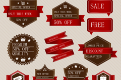 Link to12 paper sale tag vector