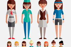 Link to12 professional women design vector graph
