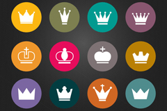 Link to12 round crown icon vector