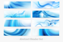 Link to12 stylish blue banner vector