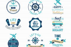 Link to12 summer trip tag vector