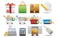 Link to12 supermarket icon vector