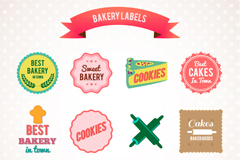 Link to12 tasty baking tag vector