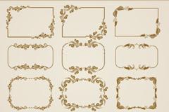 Link to12 vintage decorative box, vector