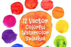 Link to12-watercolor dots design vector