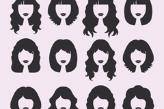 Link to12 women's hair design vector