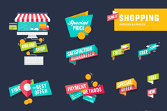 Link to13-card shopping tag vector