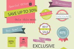Link to13 colour sale tag vector