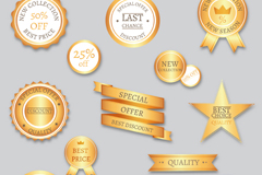 Link to13 gold sale tag vector