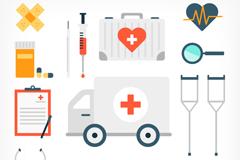 13 medical design elements vector illustration