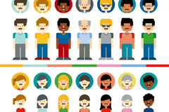 Link to14 character and avatar design vector