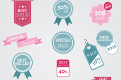Link to14 color promotional label vector diagrams