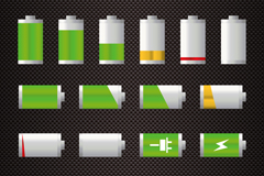 Link to14 colorful battery icon vector