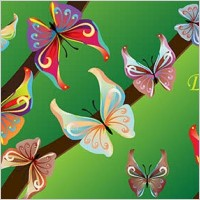Link to14 colours butterfly vector