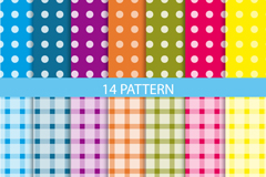 Link to14 dots and squares background vector
