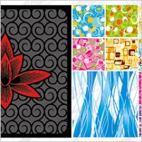 Link to14, fashion pattern tiled background material vector