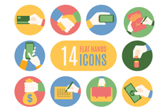 Link to14 hand icon vector