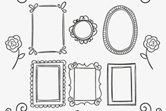 Link to14 hand-painted patterns and frame design vector