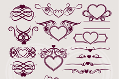 Link to14 love pattern design vector