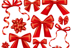 Link to14 red ribbon bow vector