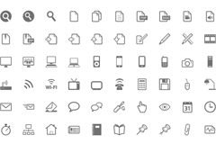 Link to140 simple small icon vector