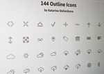 Link to144 icon vector
