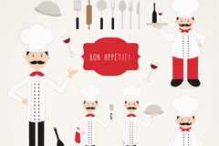 Link to15 cook and tableware designed vector