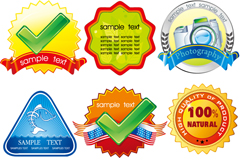 Link to15 creative product label vector