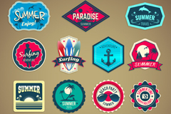 Link to15 summer holiday tag vector