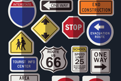 Link to15 traffic sign vector illustration