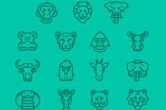 Link to15 wildlife portrait design vector