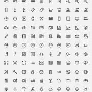 Link to150 outline web icons vector free