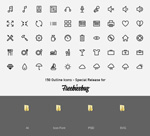 Link to150 wireframe icons vector