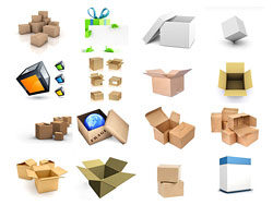 Link to16 3d blank box cardboard box hd pictures