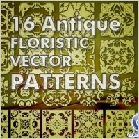 Link to16 antique floristic vector patterns