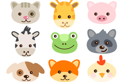 Link to16 avatar cartoon animals vector