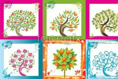 Link tovector tree impression color beautiful 16