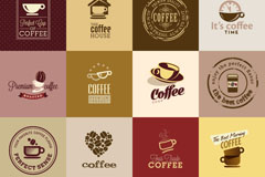 16 beautiful creative coffee logo vector