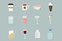 Link to16 beverage icon vector
