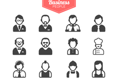 Link to16 business icon vector