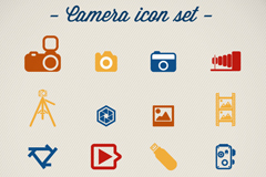 Link to16 colour photographic element icon vector