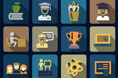 Link to16 creative science education icon vector