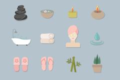 16 creative spa icon vector