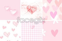 Link to16 cute hearts background pack