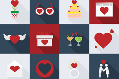 Link to16 delicate love element icon vector